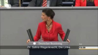 Скандал в Бундестаге. Сара Вагенкнехт обвинила Меркель и Обаму в разжигании войны