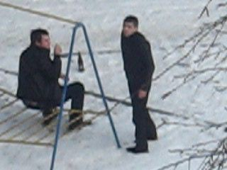 гости под снегом