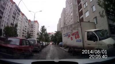 Застрелите собаку!, Задержание водителя в Тюменском дворе