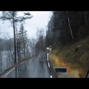 Дороги Норвегии после ливневых дождей