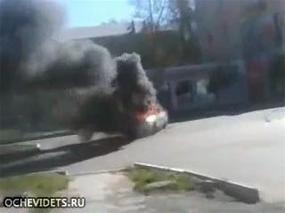 Взрыв Ваз 2112 в городе Н.Тагил