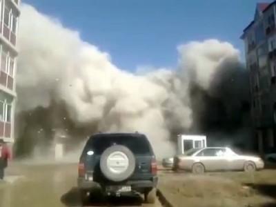 В Казахстане рухнуло здание
