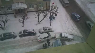 BMW вьехало в пикап
