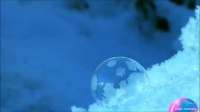 Мыльные пузыри при -15С. Замерзшие пузыри на морозе
