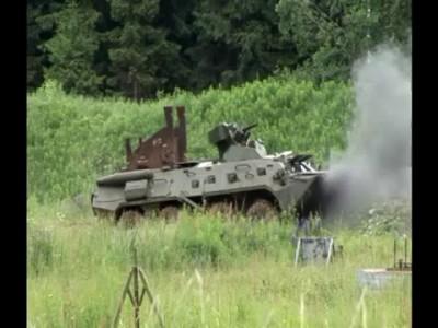 Подрыв и обстрел БТР-80А