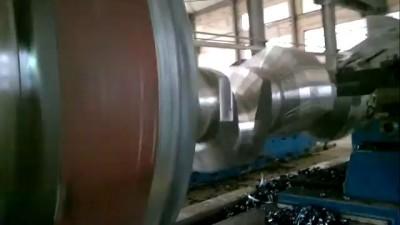 32tons load bearing heavy horizontal lathe for large crankshaft processing