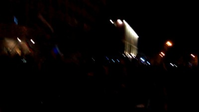 Вечерний гимн России в Луганске 08.04.2014
