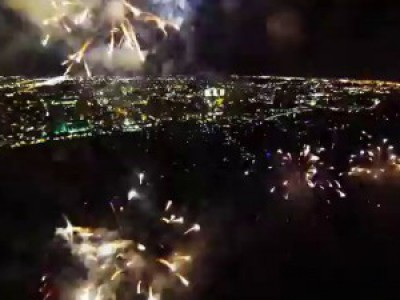 Fireworks filmed with a drone (Trance Version)