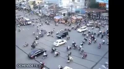 Перекресток в Индии