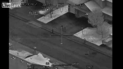 Пилот снял свою семью на камеру Apache