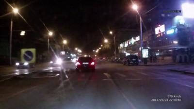 Полицейская погоня ДТП, Омск (14.09.2015)
