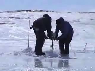 настоящая подледная рыбалка