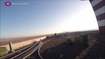 Украинский танковый ас в аэропорту Донецка