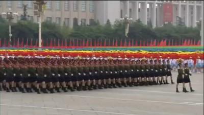Парад девушек в Китае