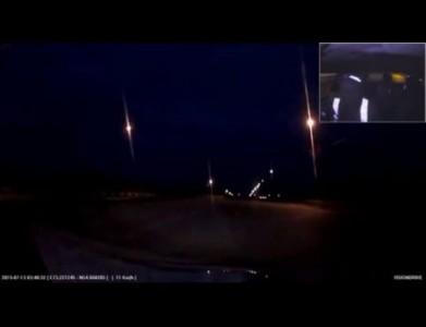 Омские автоинспекторы устроили погоню со стрельбой за угонщиком (13.07.2015)