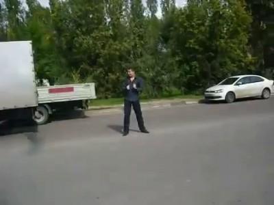 Олень на дороге ( Воронеж )