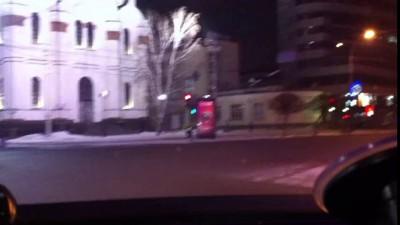 Погоня за бухим в центре Екатеринбурга