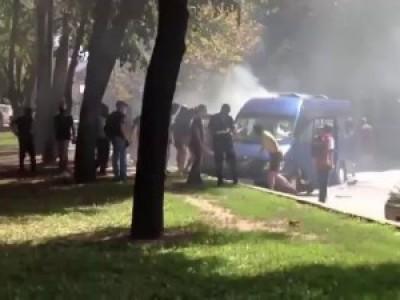 Харьков драка с перестрелкой штурм офиса регионалов взорвали автобус, 3 августа 2015