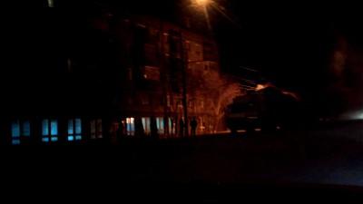 Фура горит на дороге в Новосибирске