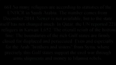 Germany,Syrian Refugee spits on Saudi Arabia and Qatar! You are not Muslims!