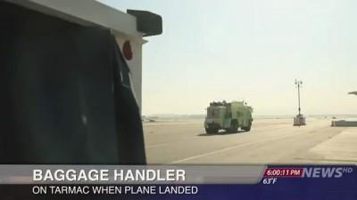 Посадка самолета с неисправным шасси