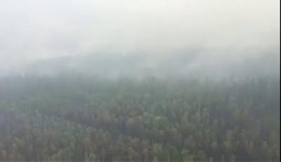 Видео с места крушения Ил-76 в Иркутской области