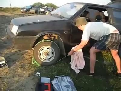 Запуск машины веревкой