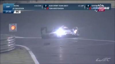 WEC 6 Hours Of Sao Paulo 2014 Webber Huge Crash