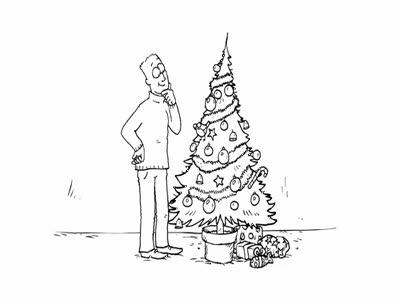 Кот Саймона и елка