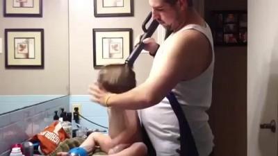 Укладка волос по-отцовски (styling)