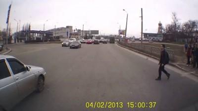 Придурок переходит дорогу