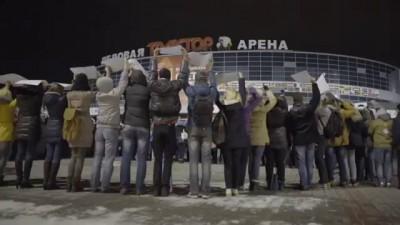 Две тысячи человек выстроились в портрет Путина
