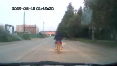 Погоня за мотоциклистом. Сыктывкар.