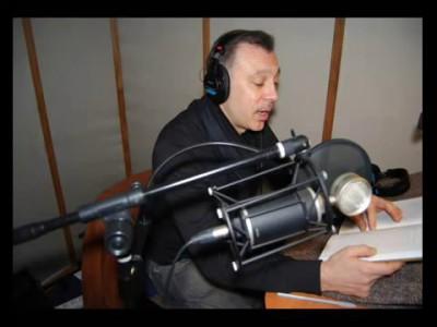 Сергей Чонишвили рабочий момент озвучки Пелевина