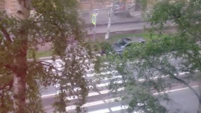 Пешеходная подстава на переходе...