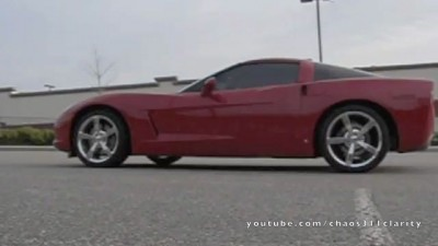 Slow Motion Corvette Burnout