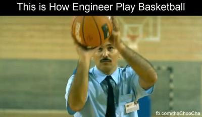 Как инженер играет в баскетбол