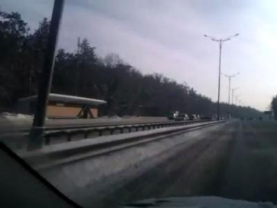 Аварии на бориспольской трассе 15.02.2012