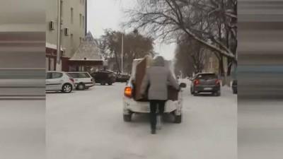 Грузчик - легкоатлет. Петропавловск