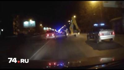 Погоня в Копейске за бульдозером