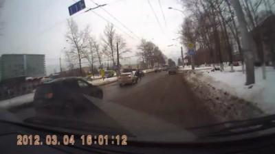 Драка водителя и пешехода
