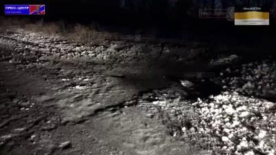 Артиллерия Вооруженных Сил Украины обстреливает п Веселая Гора