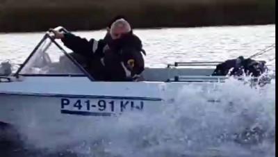 17 10 2015 Новокуйбышевск погоня на лодках