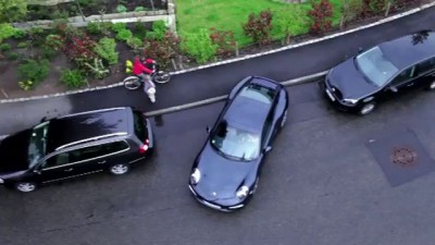 Porsche 911 парковка задом