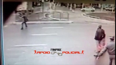 Полицейский пытался задержать преступников