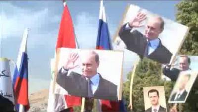 Момент взрыва у посольства России в Дамаске