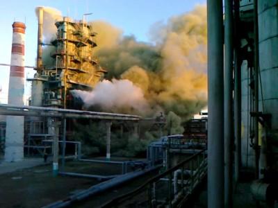 Авария на химическом заводе.