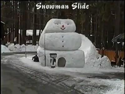 Снеговик и горка в одном флаконе