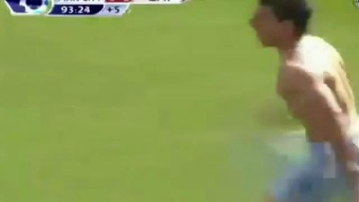 Aguero goal in Extra Time To win Premiership with Man city