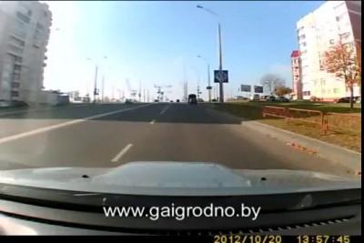 Гродно: виновного в ДТП определил видеорегистратор